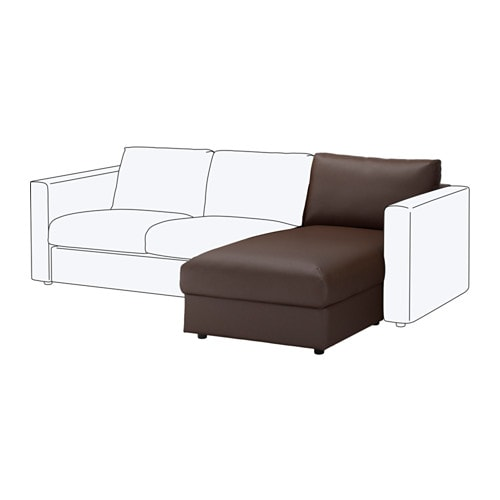 Vimle chaise longue section farsta dark brown ikea for Chaise longue jardin ikea