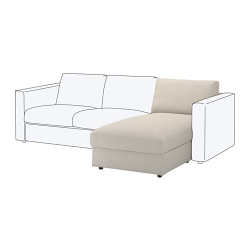 Vimle chaise longue section gunnared beige ikea for Chaise en osier ikea