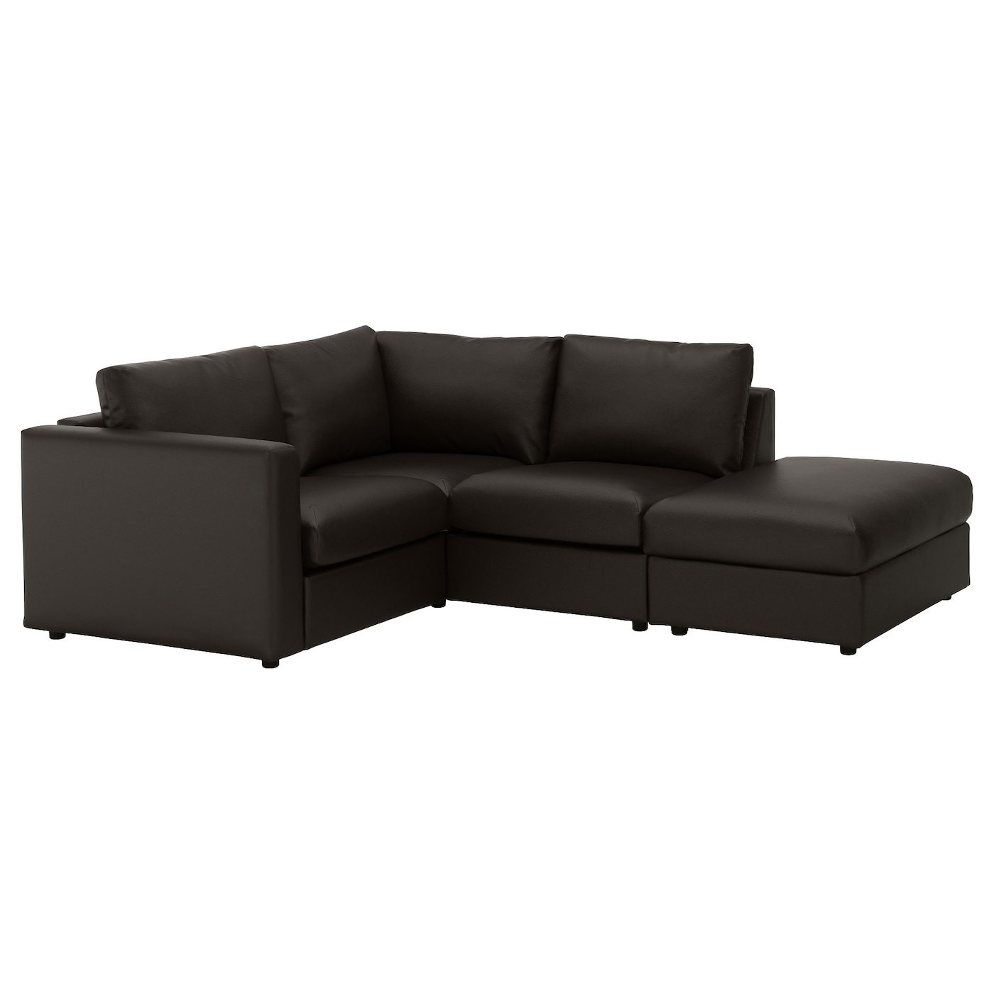 Black corner sofa leather corner sofa for london black for Black corner sofa