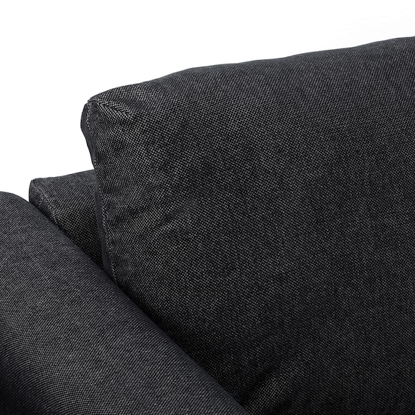 VIMLE Corner sofa, 3-seat, with open end/Tallmyra black/grey