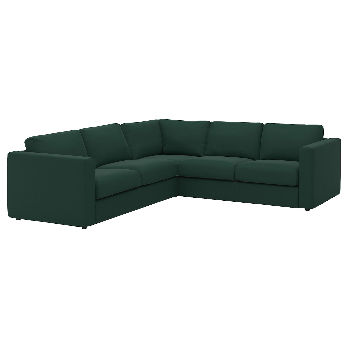 Vimle corner sofa 4 seat gunnared dark green ikea for Ikea couch planer