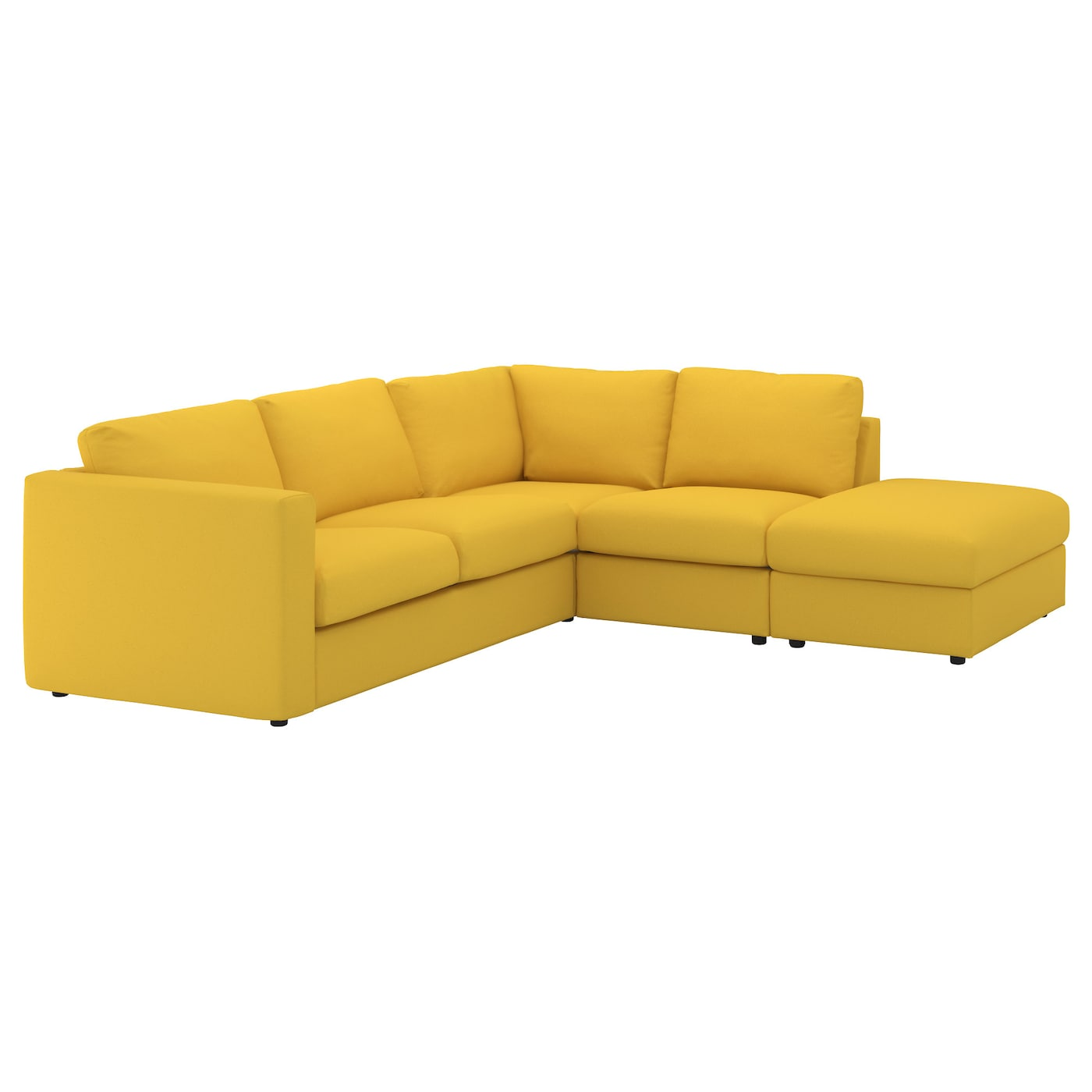 Vimle corner sofa 4 seat with open end gr sbo golden for Sofa en l liquidation