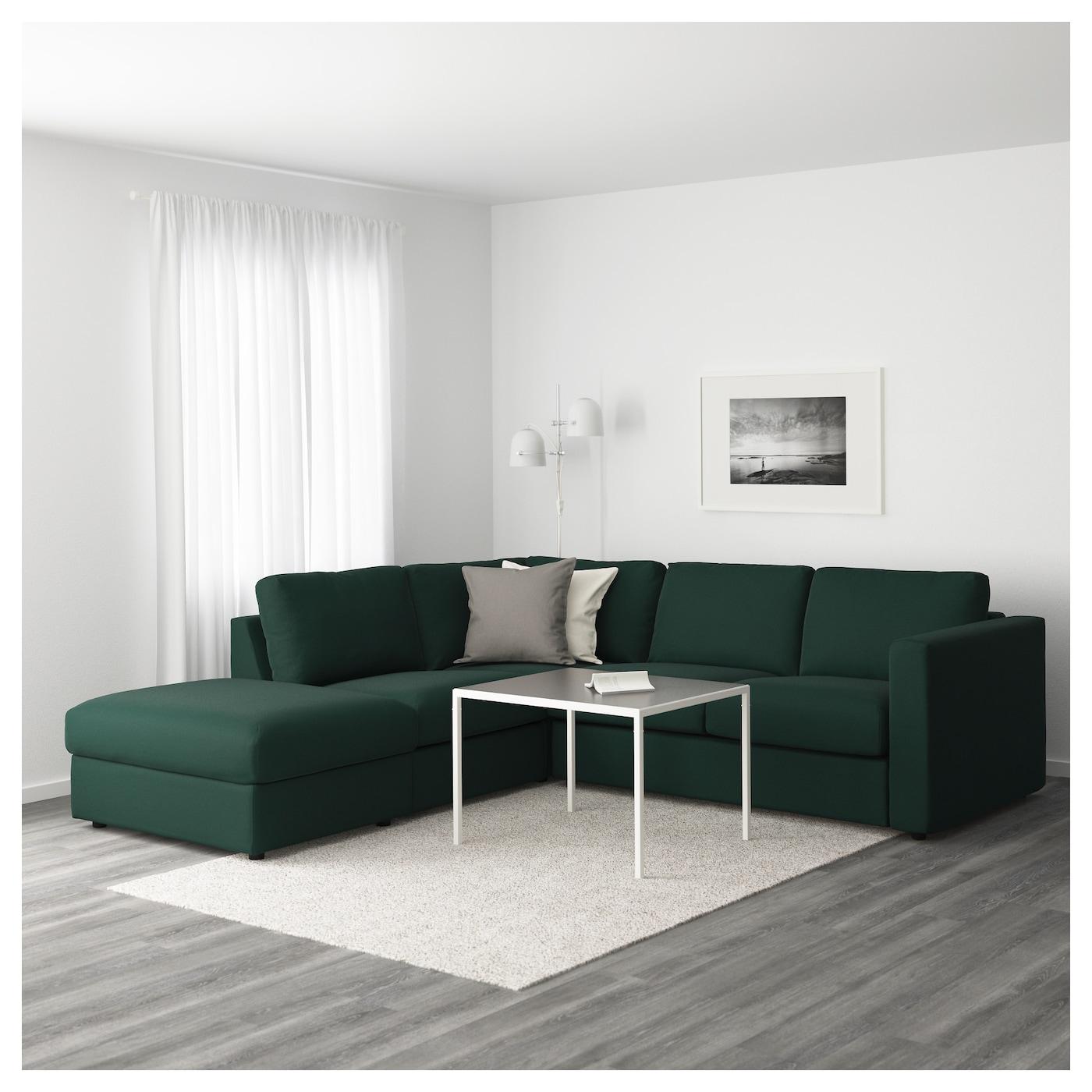 Vimle Corner Sofa 4 Seat With Open End Gunnared Dark