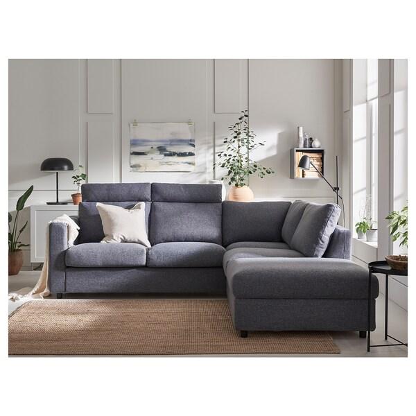 VIMLE Gunnared medium grey, 1 seat