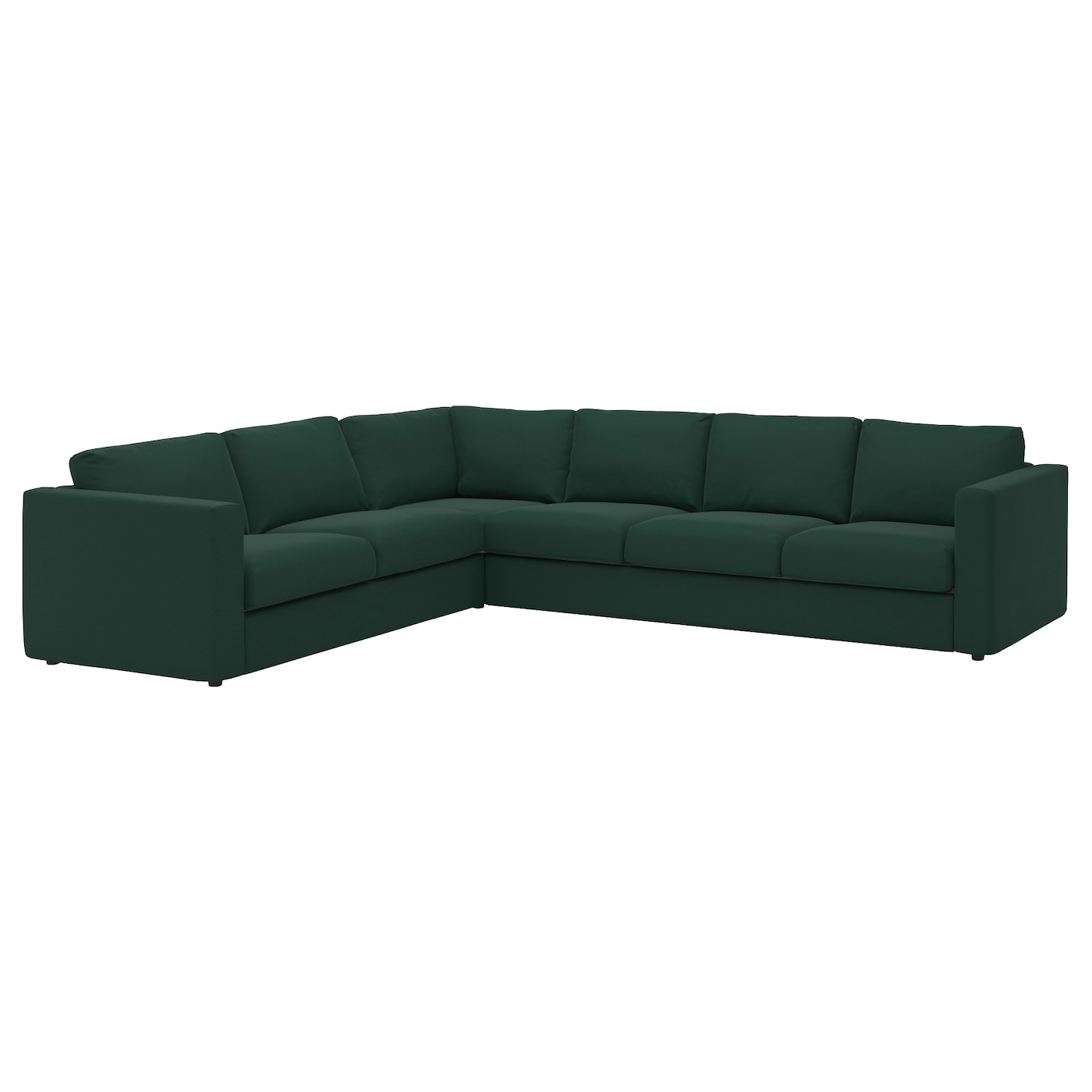 Vimle Corner Sofa 5 Seat Gunnared Dark Green Ikea