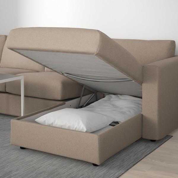 VIMLE Corner sofa, 5-seat, with chaise longue/Tallmyra beige