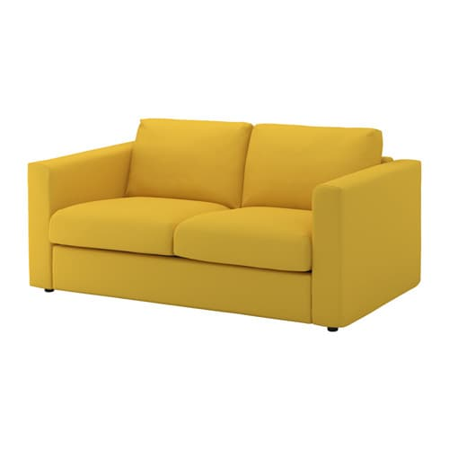 Vimle Cover For 2 Seat Sofa Gr 228 Sbo Golden Yellow Ikea