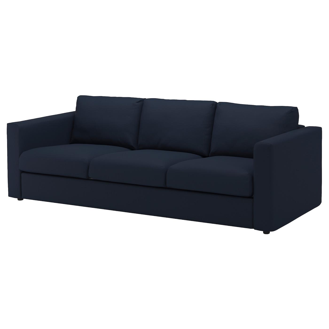 VIMLE Cover for 3 seat sofa Gräsbo black blue IKEA