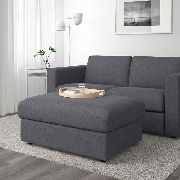 Footstool With Storage Vimle Gunnared Medium Grey