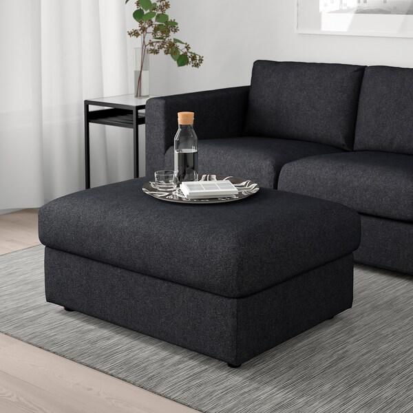 Footstool With Storage Vimle Tallmyra Blackgrey