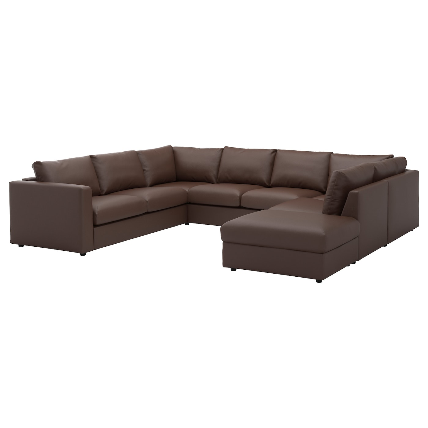 VIMLE Ushaped sofa 6 seat With open endfarsta dark brown IKEA