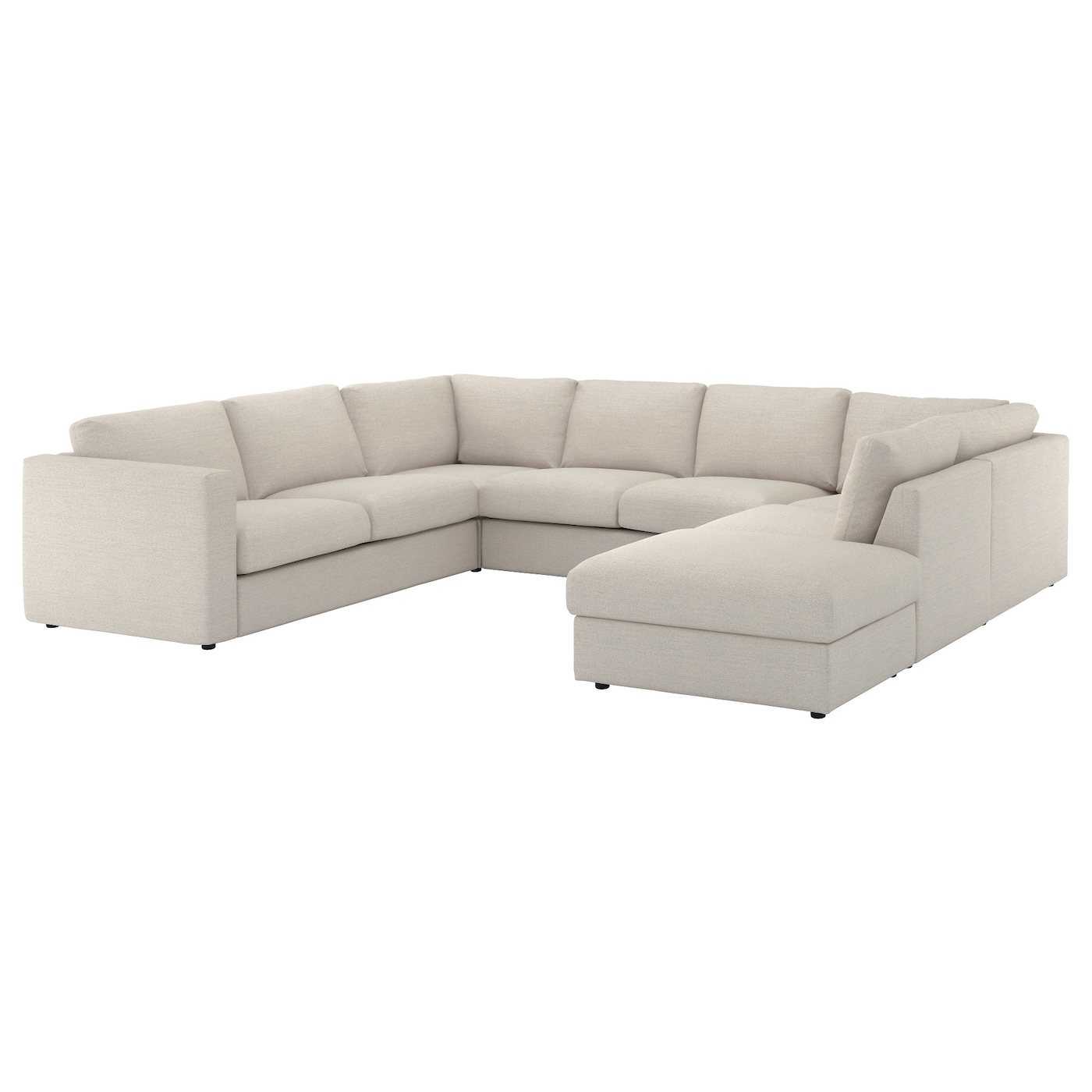 vimle u shaped sofa 6 seat with open end gunnared beige ikea. Black Bedroom Furniture Sets. Home Design Ideas