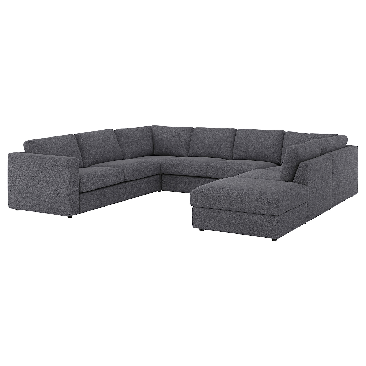 vimle u shaped sofa 6 seat with open end gunnared medium grey ikea. Black Bedroom Furniture Sets. Home Design Ideas