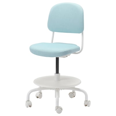 VIMUND Children's desk chair, Vissle blue-green