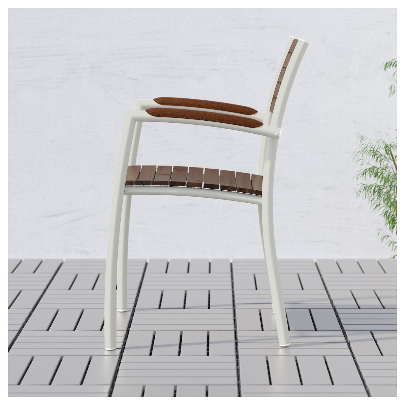 IKEA VINDALSÖ chair with armrests, outdoor