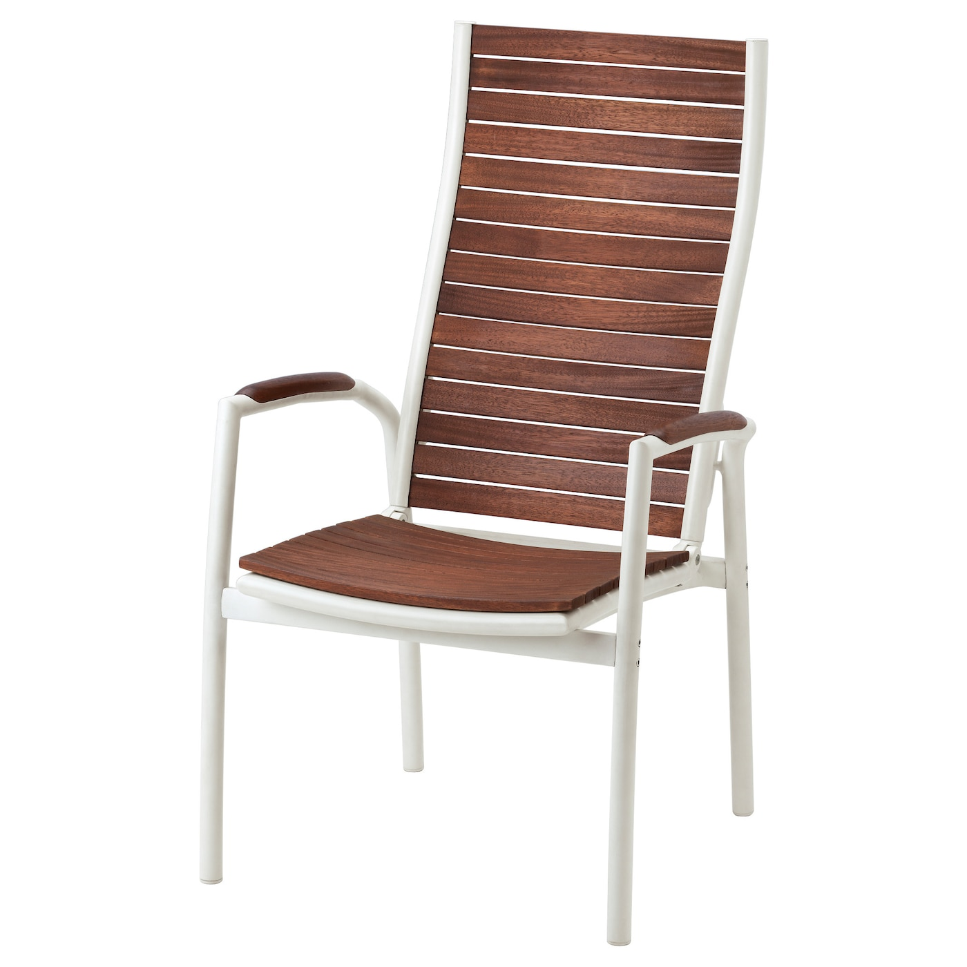 VINDALSÖ Reclining chair outdoor White brown stained IKEA