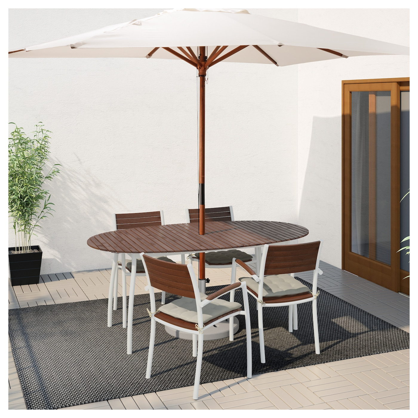 vindals%C3%B6-table-outdoor-white-brown-stained__0480730_pe619166_s5 Impressionnant De Table ascenseur