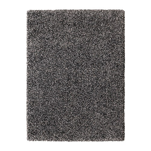 Vindum Rug High Pile Dark Grey 133 X 180 Cm Ikea