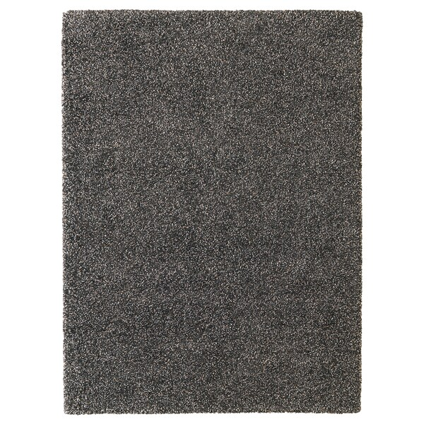 VINDUM Rug, high pile, dark grey, 200x270 cm
