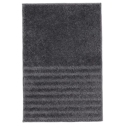 VINNFAR Bath mat, dark grey, 40x60 cm