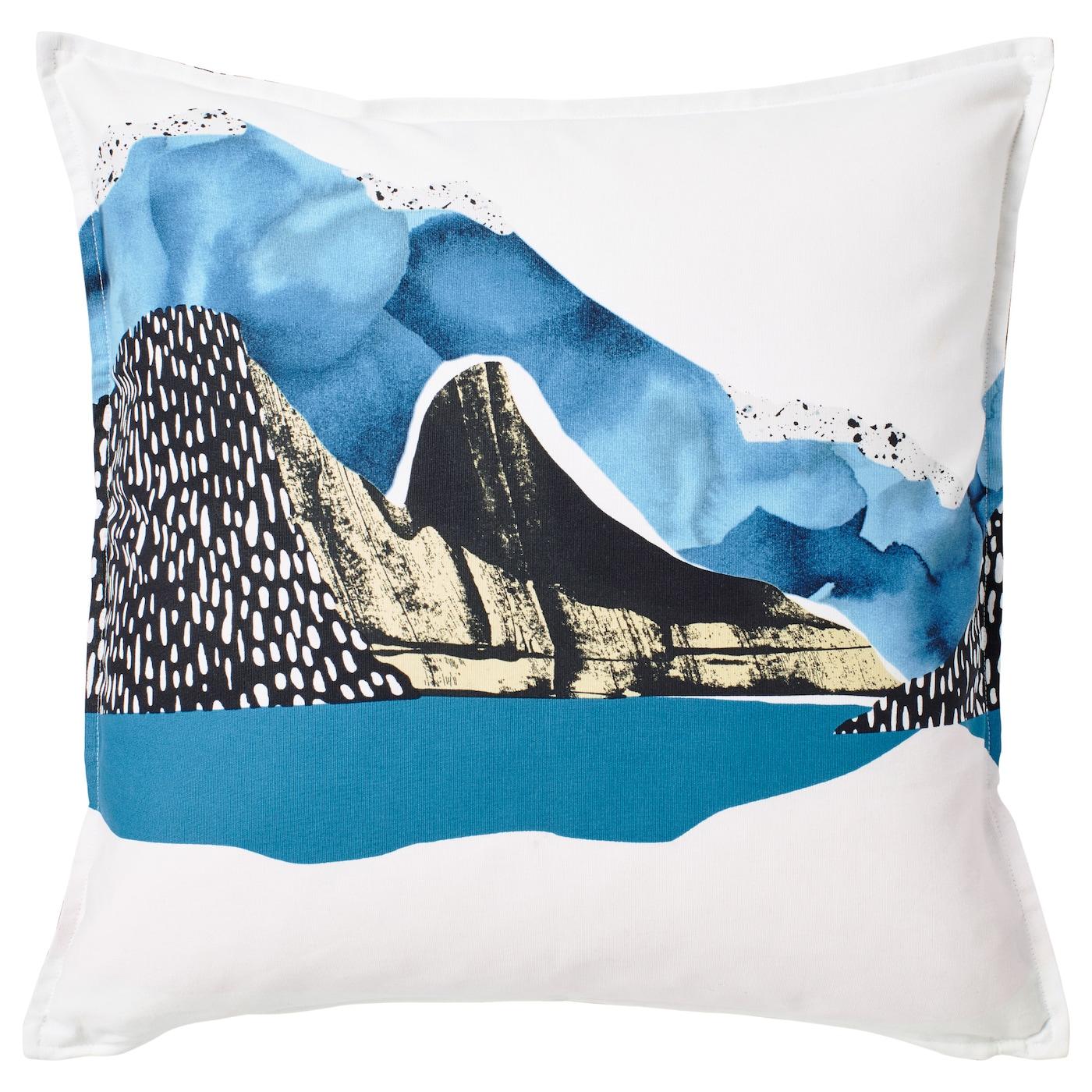 VINTER Cushion cover Whiteblackblue x cm IKEA