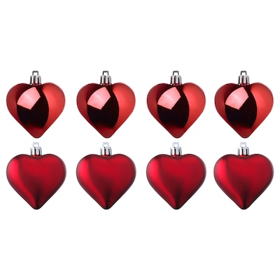 VINTER 2020 Hanging decoration, heart-shaped red