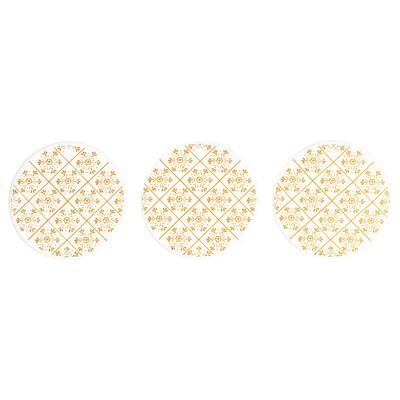 VINTER 2020 Hanging decoration, white/snowflake pattern gold-colour, 7 cm
