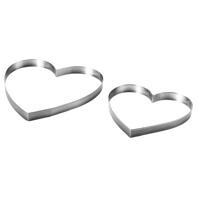 VINTER 2020 Pastry cutter, set of 2, stainless steel
