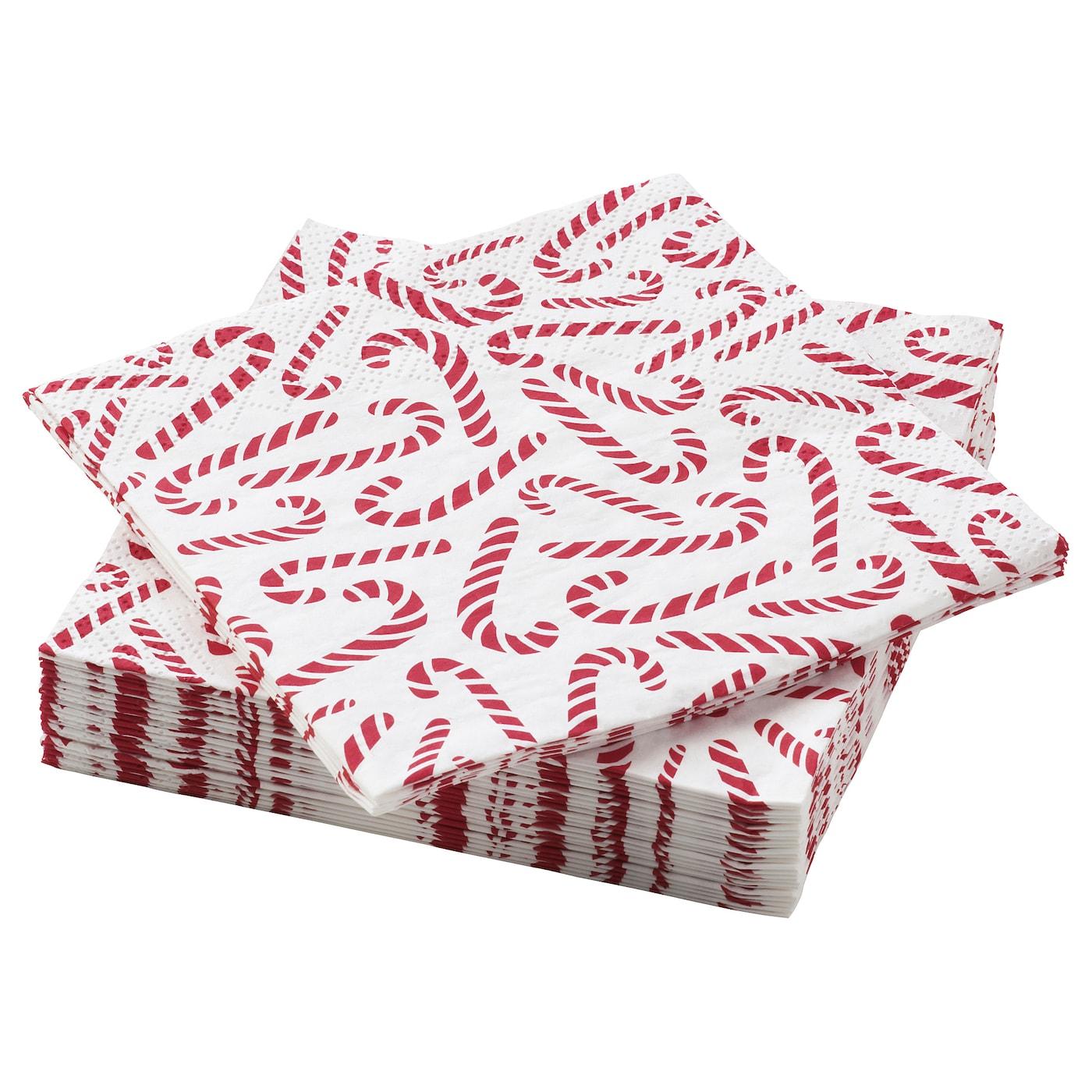 Paper Napkin Vinterfest Patterned Candy Cane