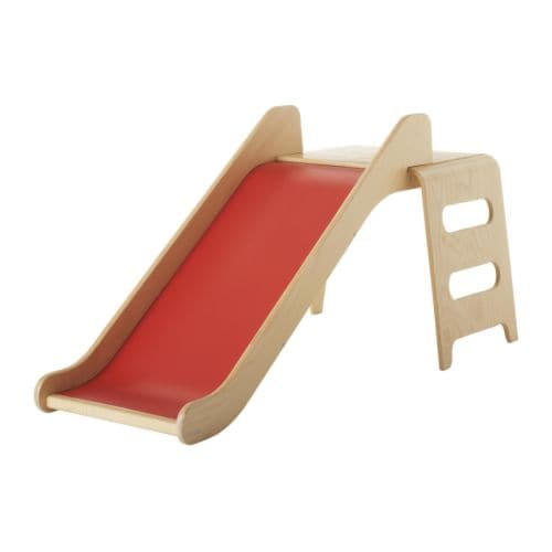VIRRE Slide IKEA Helps the development of children's coordination and balance.  Smooth wooden surfaces; splinter-free and easy to wipe clean.