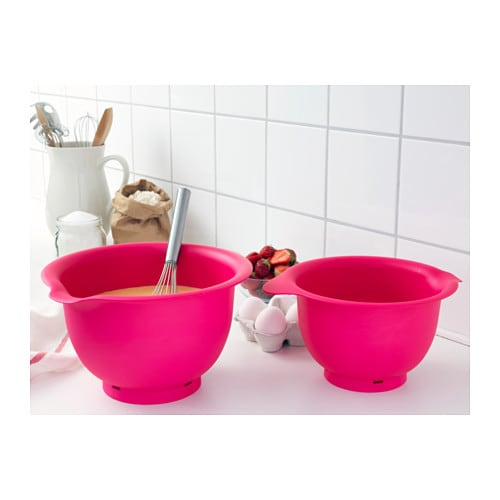 vispad mixing bowl set of 2 pink ikea. Black Bedroom Furniture Sets. Home Design Ideas