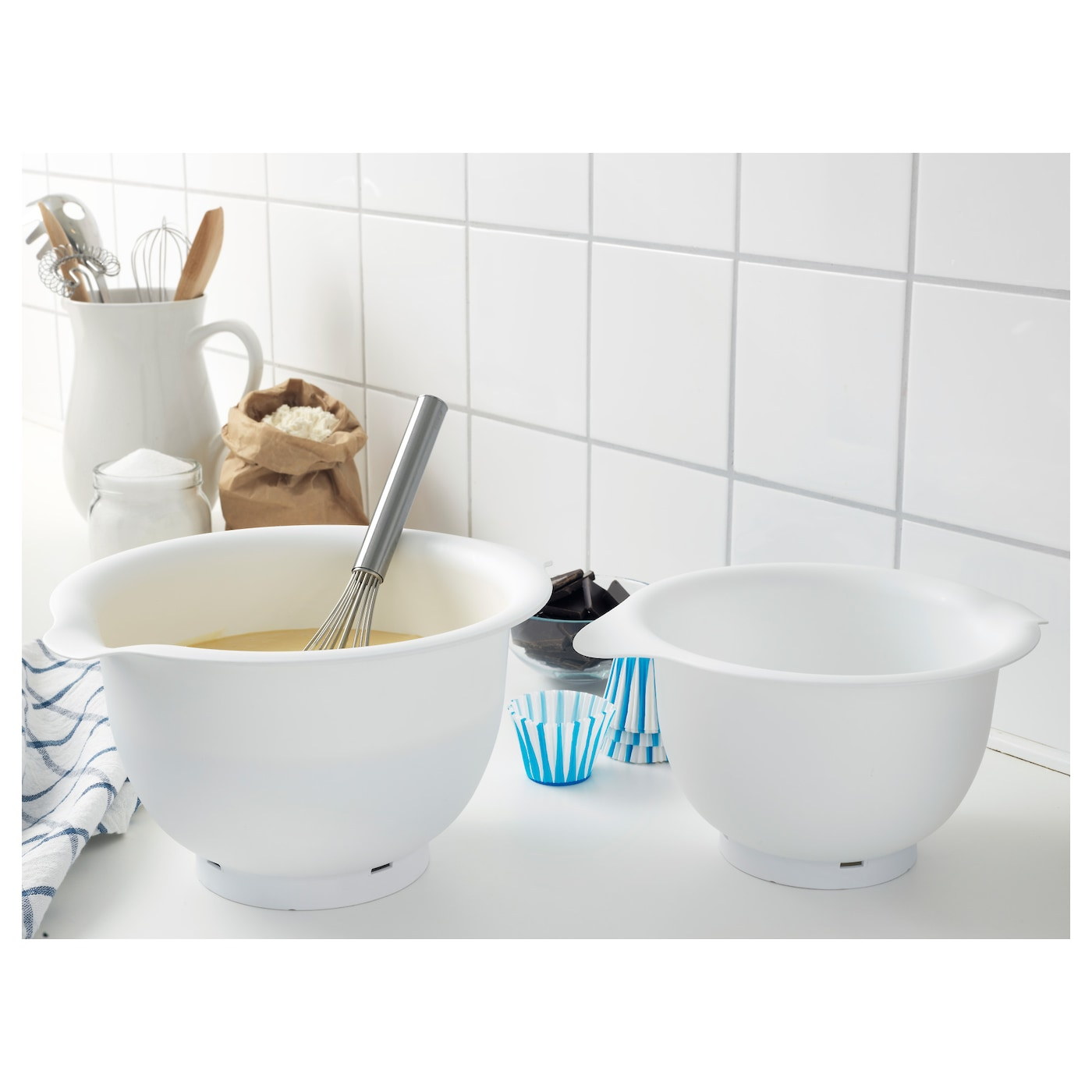 vispad mixing bowl set of 2 white ikea. Black Bedroom Furniture Sets. Home Design Ideas