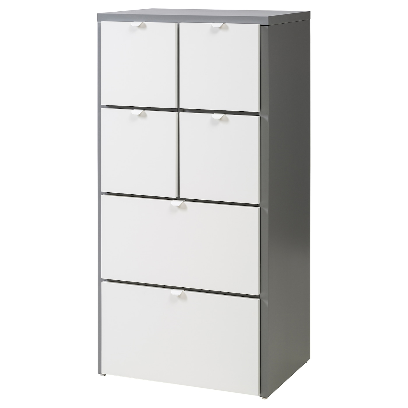 IKEA VISTHUS chest of 6 drawers The bottom drawers have castors and therefore easy to move about.