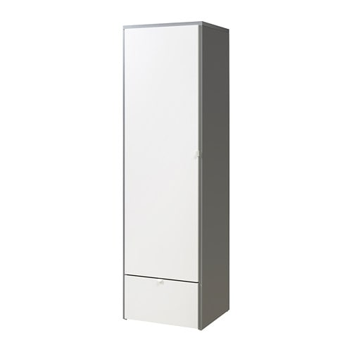 visthus wardrobe grey white 63x59x216 cm ikea. Black Bedroom Furniture Sets. Home Design Ideas