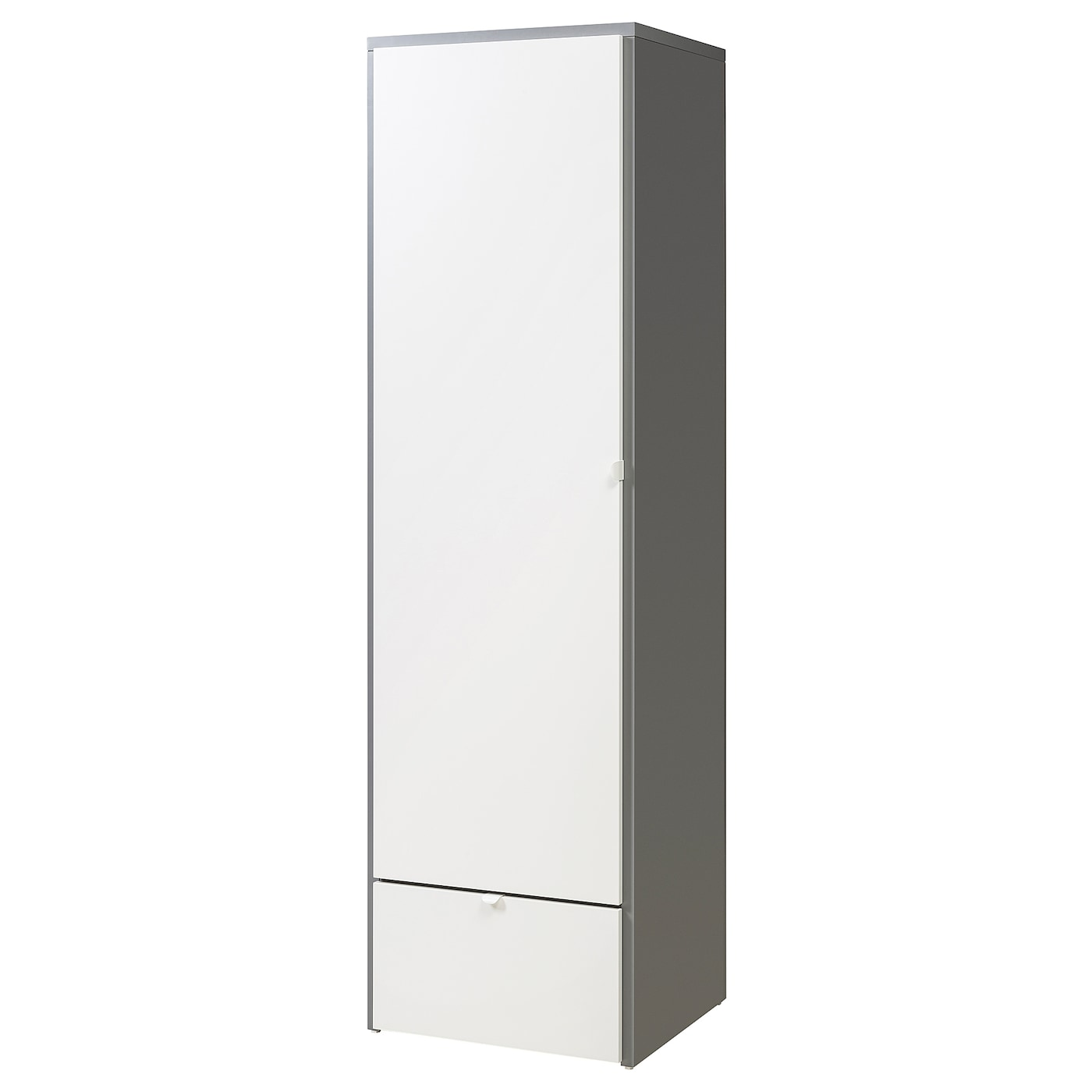 Visthus wardrobe grey white 63x59x216 cm ikea for Miroir 80 x 90
