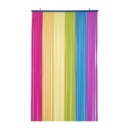 VITAMINER Drape IKEA Can be used as a room divider, a curtain, in door openings etc.   Screens off without closing in.
