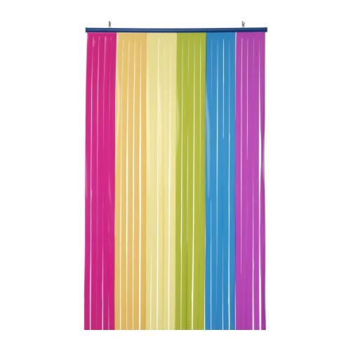 Ikea childrens door drape rainbow multicolour girls kids for Room divider curtain ikea