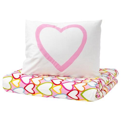 IKEA VITAMINER HJÄRTA Quilt cover and pillowcase