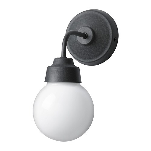VITEMÖLLA Wall lamp IKEA Gives a diffused light; good for spreading light into larger areas of a bathroom.