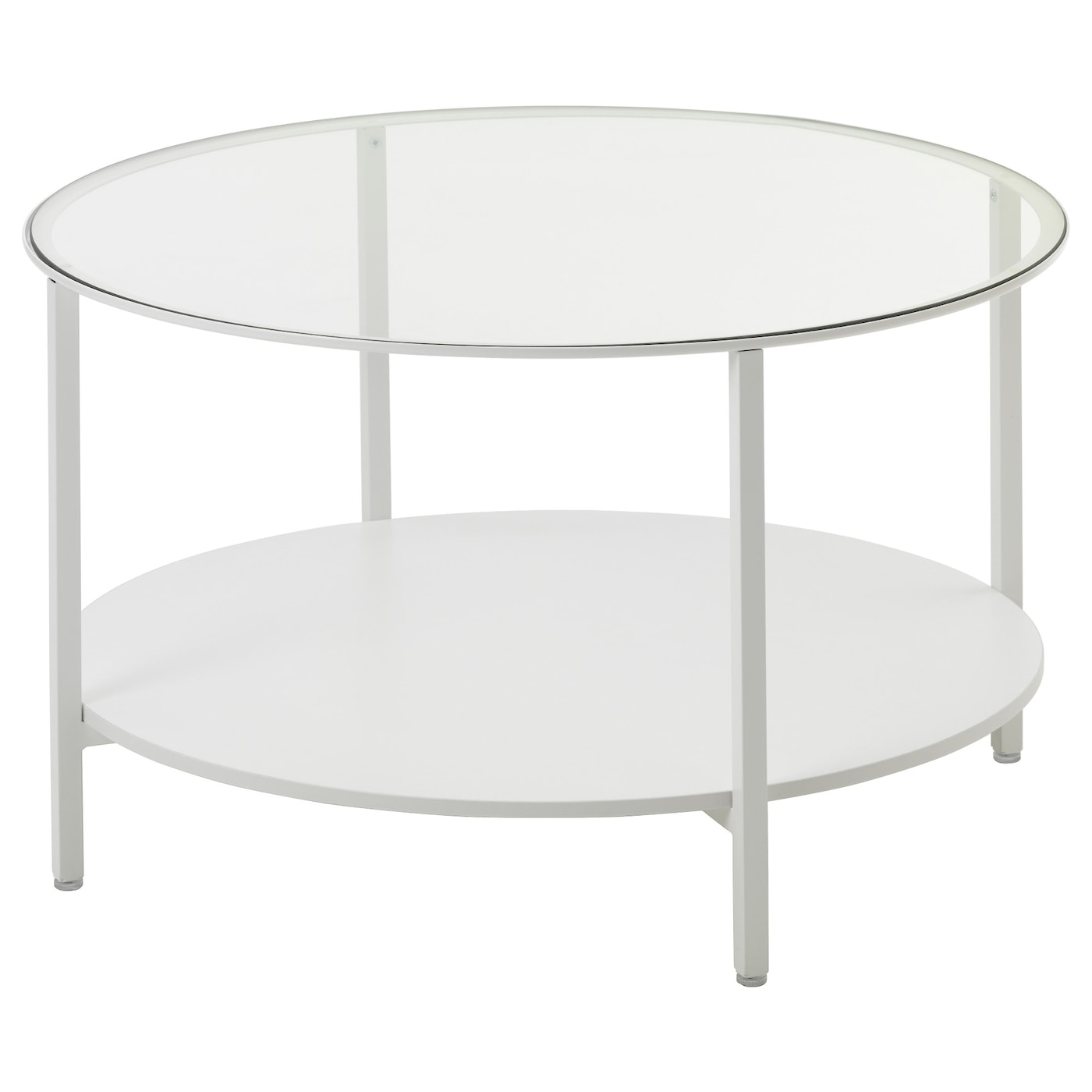 VITTSJÖ Coffee Table White/glass 75 Cm