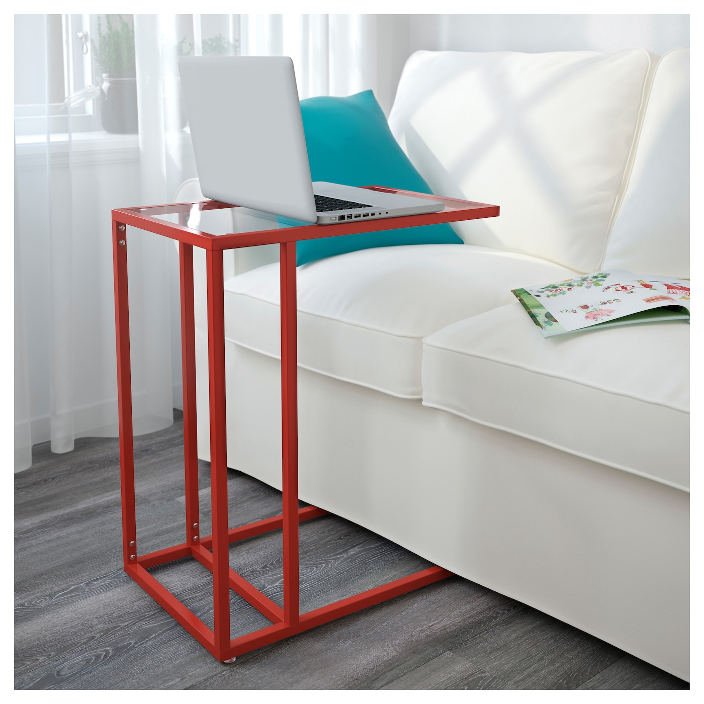 vittsj laptop stand red glass 35x65 cm ikea. Black Bedroom Furniture Sets. Home Design Ideas