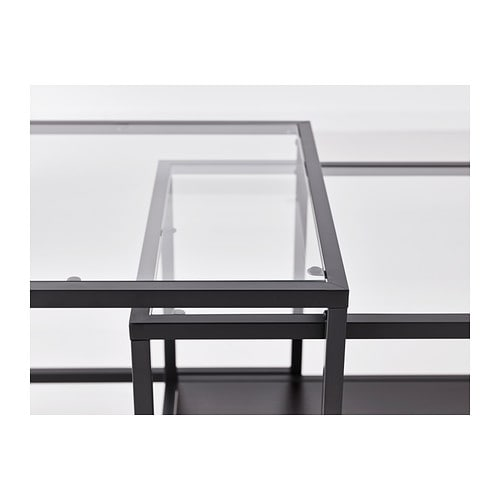 IKEA VITTSJÖ nest of tables, set of 2 Can be pushed together to save space.