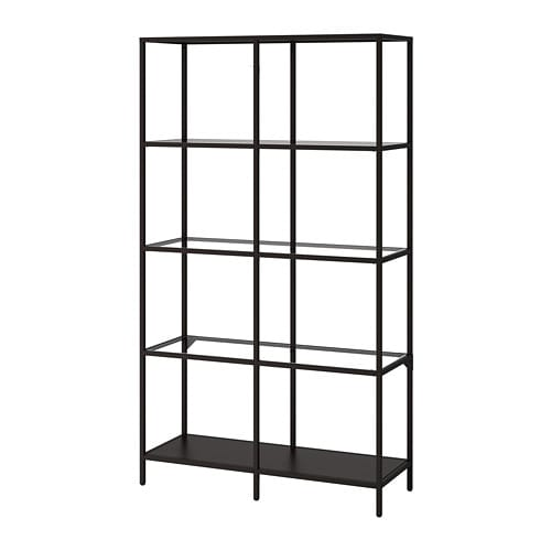vittsj shelving unit black brown glass 100 x 175 cm ikea rh ikea com Adjustable Pantry Shelving DIY adjustable closet shelving ikea