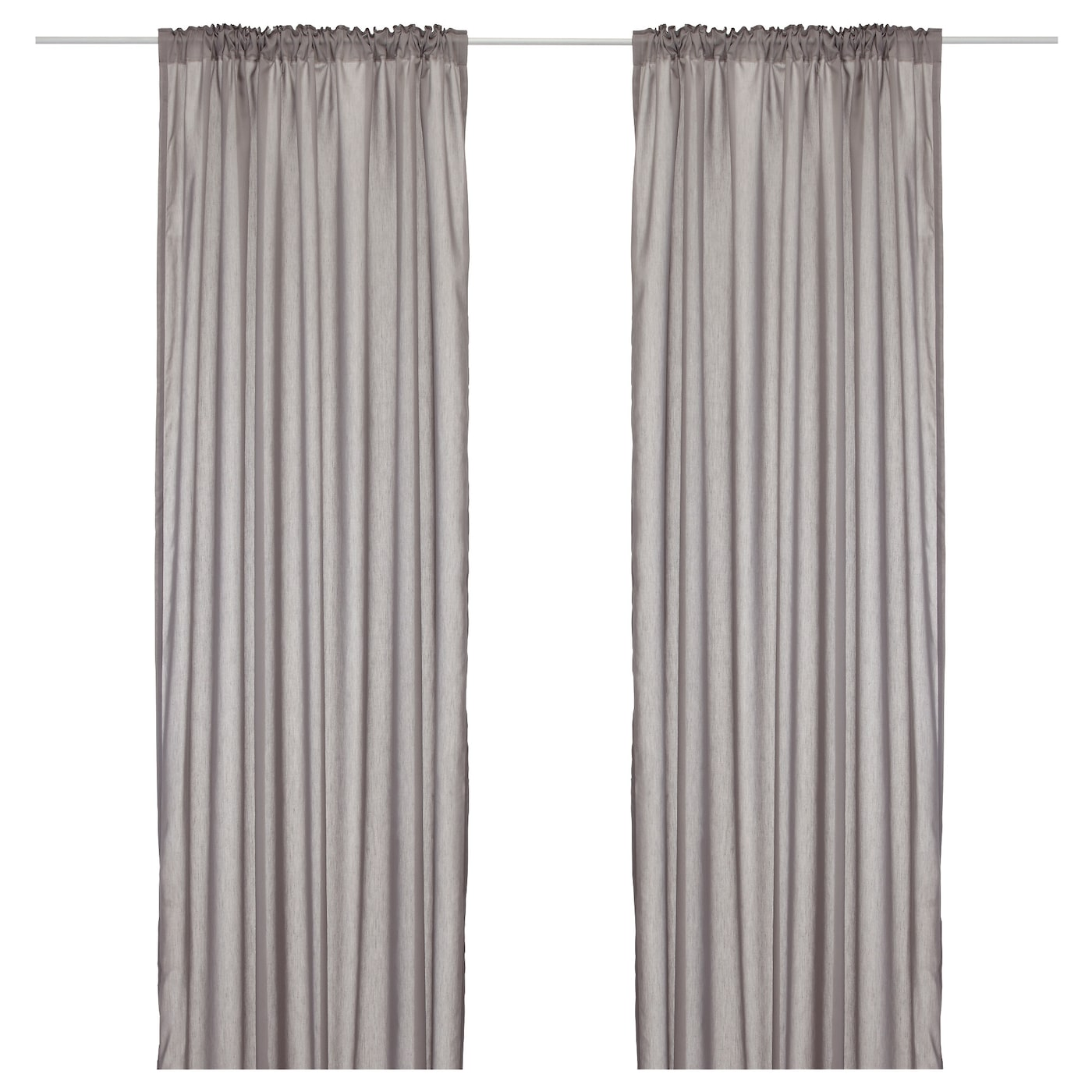 VIVAN Curtains, 1 pair Grey 145×250 cm   IKEA
