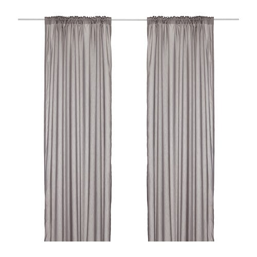 VIVAN Curtains, 1 pair IKEA The curtains let the daylight through but provide privacy so they are perfect to use in a layered window solution.