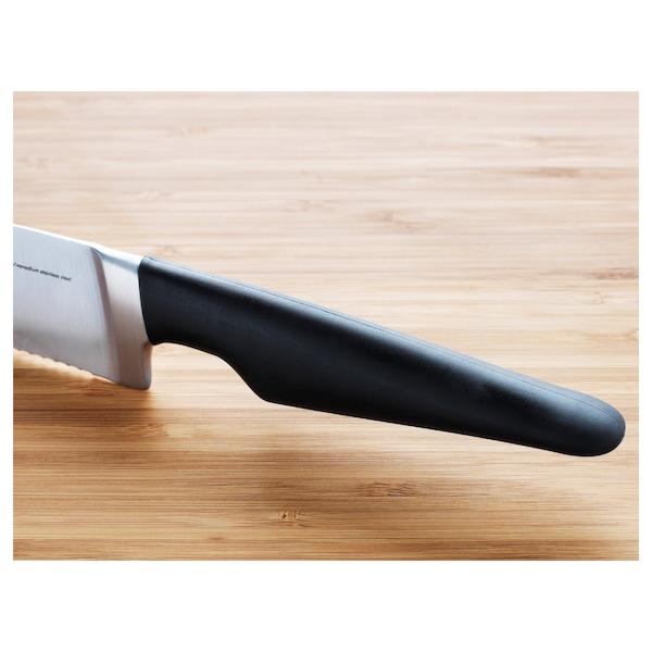 VÖRDA Bread knife, black, 23 cm