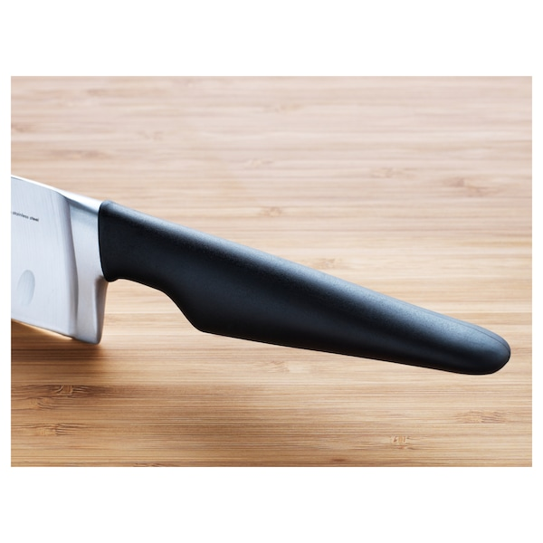 VÖRDA Vegetable knife, black, 16 cm