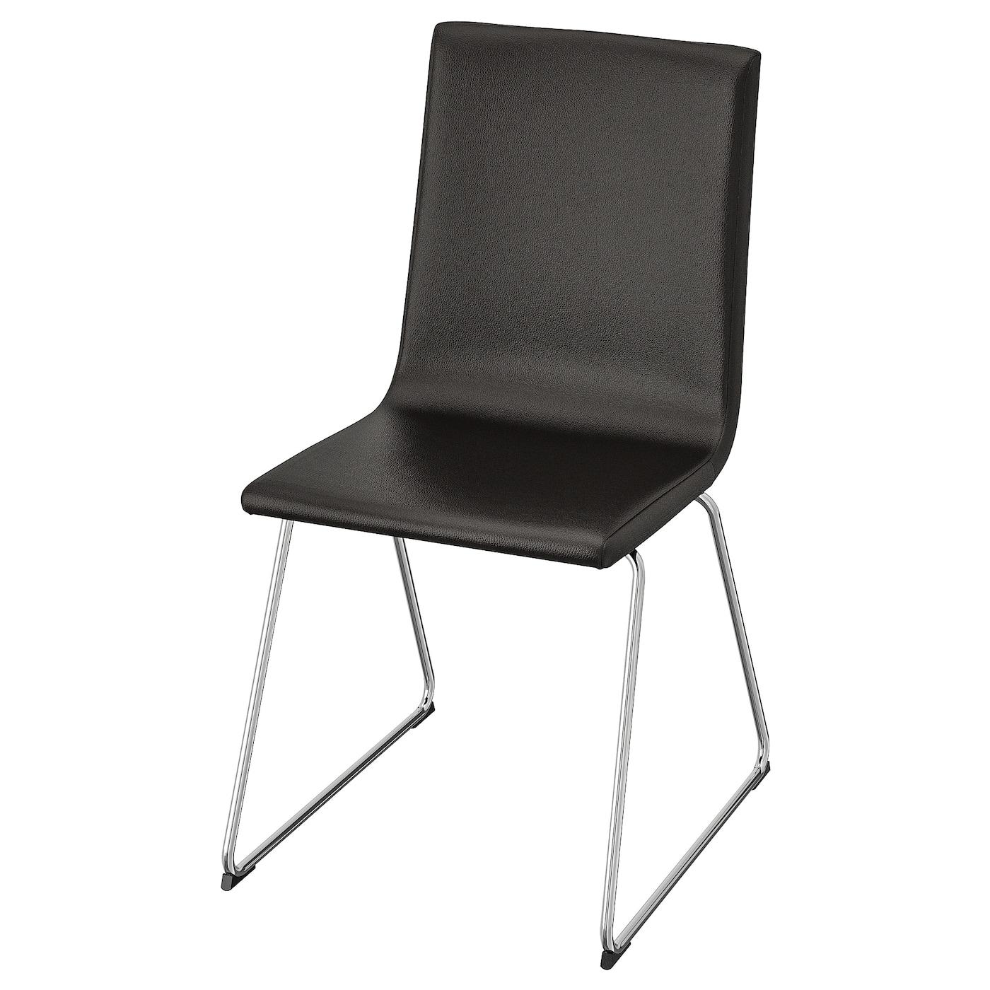 VOLFGANG Chair chrome plated, Bomstad black