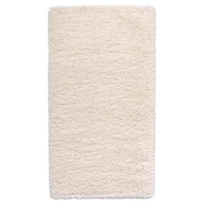 VOLLERSLEV Rug, high pile, white, 80x150 cm