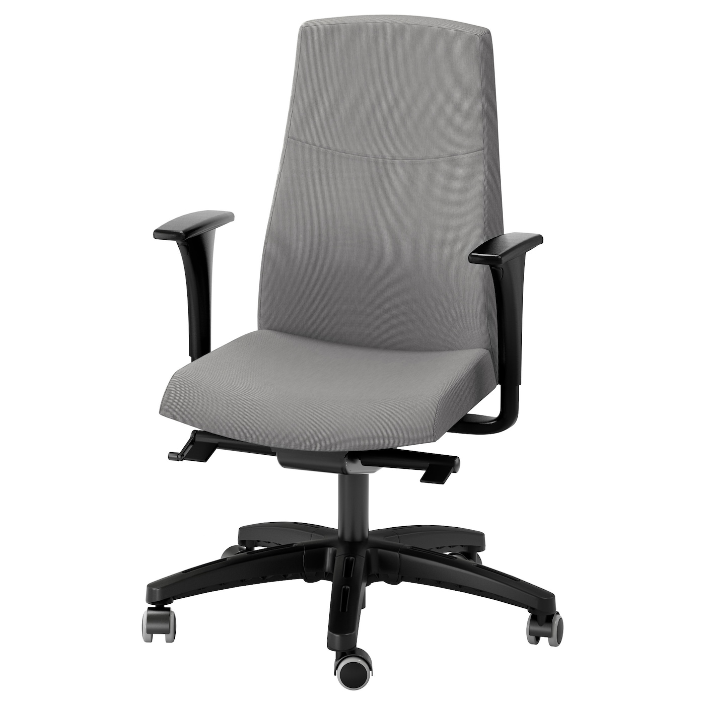 VOLMAR Swivel chair with armrests Grey IKEA